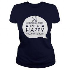 Miniature Bull Terrier T Shirts, Hoodies. Get it now ==► https://www.sunfrog.com/LifeStyle/Miniature-Bull-Terrier-124973002-Navy-Blue-Ladies.html?57074 $23