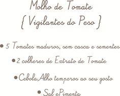 receita molho tomate básico