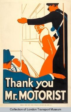 Thank you Mr. motorist, by J S Anderson, 1933 - Poster and Artwork collection online from the London Transport Museum