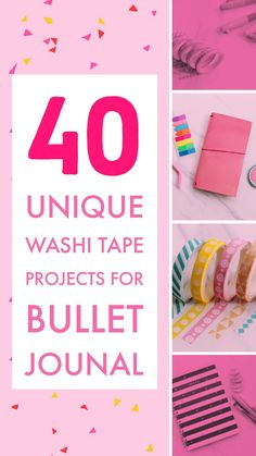 How to use washi tape in your bullet journal. Find here many washi ideas and inspiration to decorate and improve your bullet journal pages Bullet Journal For Beginners, Bullet Journal Hacks, Bullet Journal Layout, Bullet Journal Inspiration, Bullet Journals, Journal Ideas, Journal Prompts, Washi Tape Uses, Washi Tape Storage