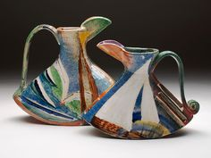 Paul Jackson, UK, ceramics: Rocking Jugs - 30-35cm