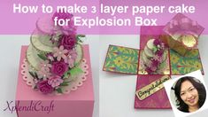 DIY - How to make a PERFECT 3 layer paper cake for Explosion Box from sc...