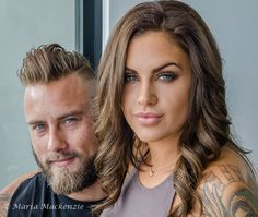 L1M2AS2 - PORTRAIT - Natascia & Zac - NIKON D7000 - Lens 18-105mm - ISO 200 - Aperture Mode-Auto WB - No flash - 1/40 sec - f/11 - Horizontal- Hand held. SIDE-ON reflection on subjects from morning sunlight. Edited in LR. Exposure -40, Contrast +12, Highlights -100, Shadow +75, Clarity +30, Sharpened, Remove Chromatic Aberration (RCA), Straightened & small amount of manually cropping. Focal point on Zac this time from memory.