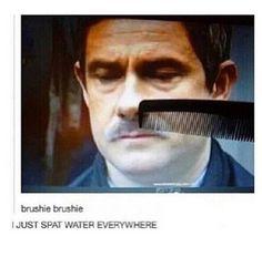 Sherlock: Brushie Brushie The Second Sherlock Fandom, Sherlock John, Sherlock Holmes, Sherlock Comic, Sherlock Cast, Watson Sherlock, Jim Moriarty, Sherlock Quotes, Martin Freeman