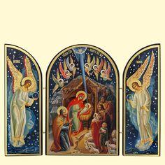 """SHOP-PARADISE.COM:  Икона-складень """"рождество христово"""" тройная, 18x24 см,двойное тиснение 18,48 €"""