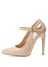 Qupid Cut-Out Pointed Toe Pumps