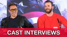 Avengers Age of Ultron Press Conference - Robert Downey Jr, Chris Evans, ...