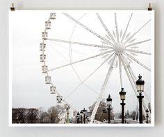 CLEARANCE Paris Photography Ferris Wheel  by TheParisPrintShop, $8.00