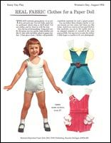 Rainy Day Fabric PDs, 1954 Magazine