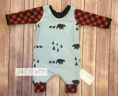 Christmas rompers Kids rompers baby rompers buffalo by JakeAndBeth