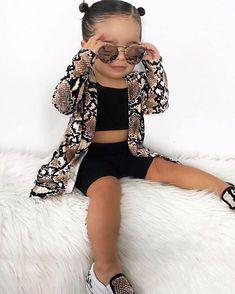 Fashion Kids, Little Girl Fashion, Toddler Fashion, Cute Little Girls Outfits, Toddler Girl Outfits, Toddler Girls, Stylish Baby, Stylish Kids, Unique Baby Clothes