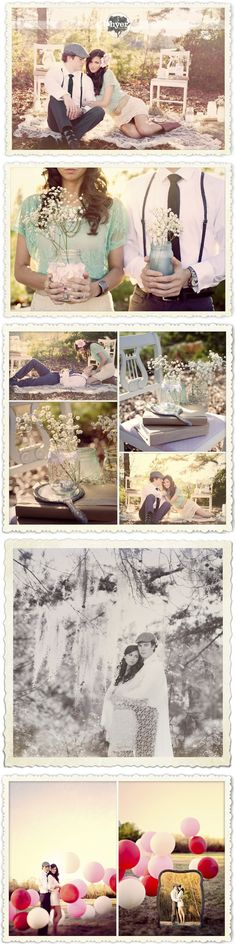 Vintage Engagement pics.. I def want vintagr pics when I get married.