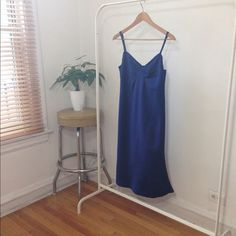 Cobalt Blue Slip Dress No label. Perfect condition. Worn once.                Ships NEXT DAY ⚡️⚡️ Holds are cool  Bundles are freakin awesome!  No trades. Fck all that  No paypal. Too confusing  Don't call me Hun  DigitalGirl Dresses