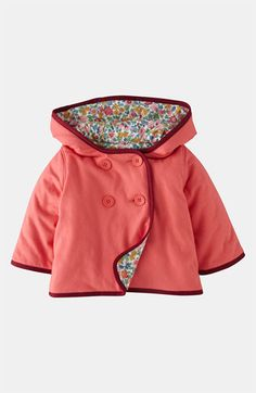thanks to mom, I already have a jacket pattern for Quinn. Solid on the outside, floral on the inside, finish in a contrasting color.
