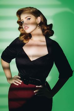 8eeac79932 Pinup Couture Plus Size Doris Top in Black