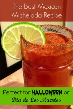 Make this drink for a Halloween party or a Dia de Los Muertos party! The Best Mexican Michelada Recipe: http://www.everintransit.com/mexican-michelada-recipe/