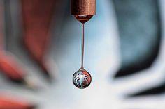 Refraction Art Water Droplet Spiderman