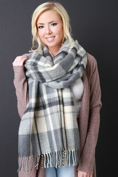 Now available at Gioellia Soft Plaid Large ... Shop here  http://gioellia.com/products/ung73188?utm_campaign=social_autopilot&utm_source=pin&utm_medium=pin