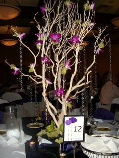 Different colors, but good balance of the tree, crystals, and flowers