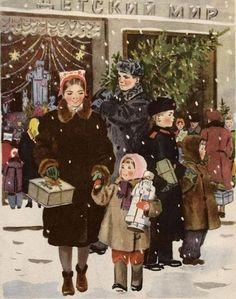Картина члена Союза художников СССР Татьяны Ерёминой, 1953 год.
