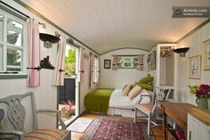 Shepherds Hut in Bury: A beautiful, secluded, self-catering shepherds with ensuite bathroom and log burner. The outside area is very un-natural, but the hut is gorgeous. Little House, House Design, Tiny Spaces, Small Spaces, Home, Tiny House Living, Shepherds Hut, Little Houses, Small Living