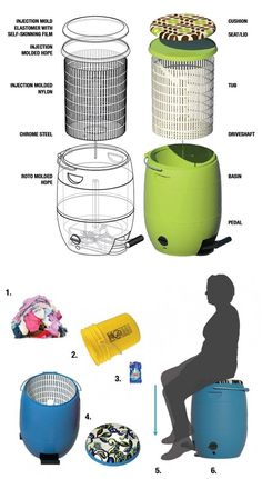 Pedal-Powered Washer Costs Only $40 and Needs No Electricity! http://www.goodshomedesign.com/pedal-powered-washer-needs-no-electricity-and-costs-only-40/