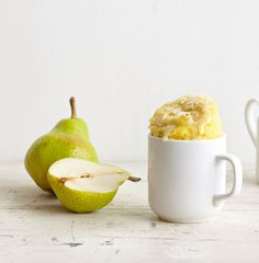 Pear mug cake with almonds recipe from Mug Cakes by Lene Knudsen   Cooked