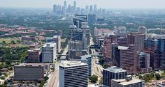Texas Medical Center and Houston Downtown Skyline