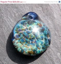 On Sale Glass Boro Pendant Jewelry Necklace by untamedrose on Etsy, $10.00
