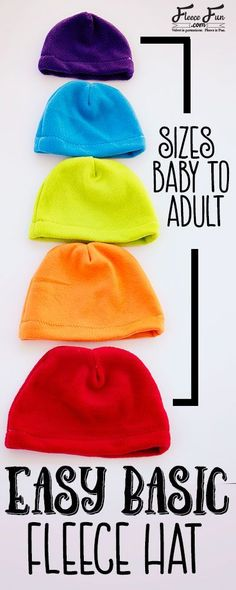 I love this easy basic fleece hat tutorial. I love the free pdf pattern that comes with it.