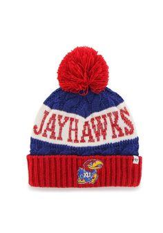Kansas Jayhawks Cuff Knit KU Hat http://www.rallyhouse.com/shop/kansas-jayhawks-47-brand-4801653 $24.99