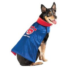 Super Dog Costume  Blue Velvet Cape Size Small 5  15 lbs -- Click on the image for additional details.