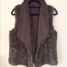 Velvet by G&S reversible women's faux-fur vest Reversible suede and faux fur, so you can dress it down or up! In mint condition. Velvet Jackets & Coats Vests