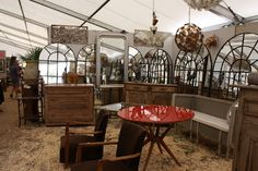 Marburger Farm - Roundtop Antique Show.  Dealers travel across the US to sell their wares in Texas at Roundtop/Warrenton/Marburger Farm.