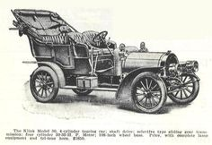 1907 Touring Car.. Klink automobile- Manufactured in Dansville, NY..