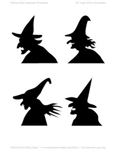 Halloween Witch Silhouette Printables Plus Diy Halloween, Halloween Vintage, Halloween Projects, Halloween Cards, Holidays Halloween, Happy Halloween, Halloween Decorations, Halloween Witches, Halloween Supplies