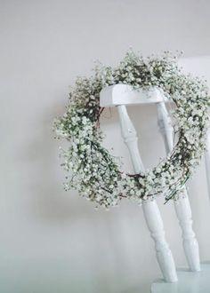 gypsophila wreath - me & orla on A Quiet Style