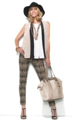 DG2 Python-Print Stretch Denim Skinny Jeans with Colorblock Top are just some of the great items that will give you some Pinspiration. Happy pinning!