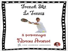 Advanced French Skit - Le tennisThis is a one page French skit for your students to have fun acting out in class in pairs (the skit has two characters). The title of this skit is Le Tennis. This resource is great for advanced s. A Level French, Gcse French, Lesson Plan Pdf, Network Drive, Le Tennis, French Resources, French Teacher, Grammar And Vocabulary, Everyday Activities