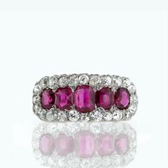 Victorian Burmese ruby and diamond ring, Lang Antiques archive.