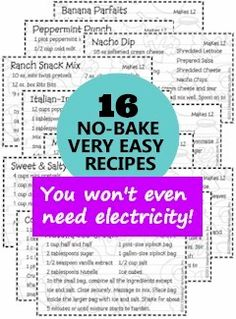 Girl Scout Brownie Snacks Badge. 16 no-bake very easy recipes. Print them all out! See MakingFriends.com for more Girl Scout Brownie Help
