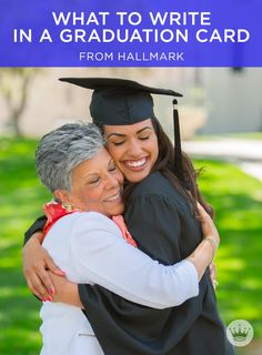 Graduation Wishes: What to Write in a Graduation Card | Add a little pomp to all your graduation-card circumstances with these message ideas from Hallmark writers. Includes more than 60 graduation wishes, plus writing tips. #Hallmark #HallmarkIdeas #WhatToWriteInACard