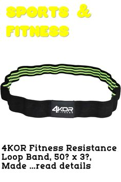 4KOR Fitness Resistance Loop Band, 50? x 3?, Made of Comfortable No-Slip Fabric, Perfect for Physical Therapy, Yoga, and Booty Building Resistance Loop Bands, 50th, Personalized Items, Detail, Fitness, Fabric, Accessories, Tejido, Tela