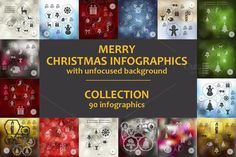 90 MERRY CHRISTMAS INFOGRAPHICS by Palau on Creative Market