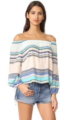 Wildfox Alyssa Coscarelli Boardwalk Stripe Marietta Top