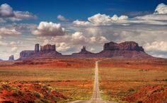 Highway through desert, Arizona