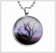Fashion Punk Style Star Tree Glow in the Dark Stainless Steel Necklace Pendant !