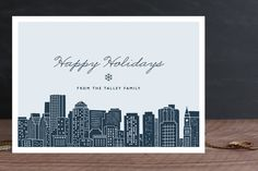Big City - Boston Holiday Non-Photo Cards by Hooray Creative at minted.com