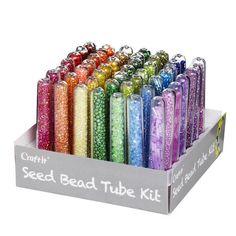 Seed Bead Tube Kit 49p Rainbow Seed Beads, Seeds, Rainbow, Kit, Jewelry, Jewellery Diy, Circuit, Rain Bow, Rainbows