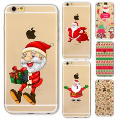 Phone Cover Case For iPhone 6 6S Plus 5 5S SE 6Plus 6SPlus Amazing Present Santa Claus Christmas Soft Silicone Capa Fundas #clothing,#shoes,#jewelry,#women,#men,#hats,#watches,#belts,#fashion,#style